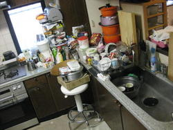 キッチンリフォーム  とにかく収納を重視したキッチンです。